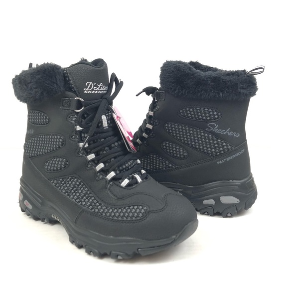 Dlites Bomb Cyclone Boots Wide Black 9
